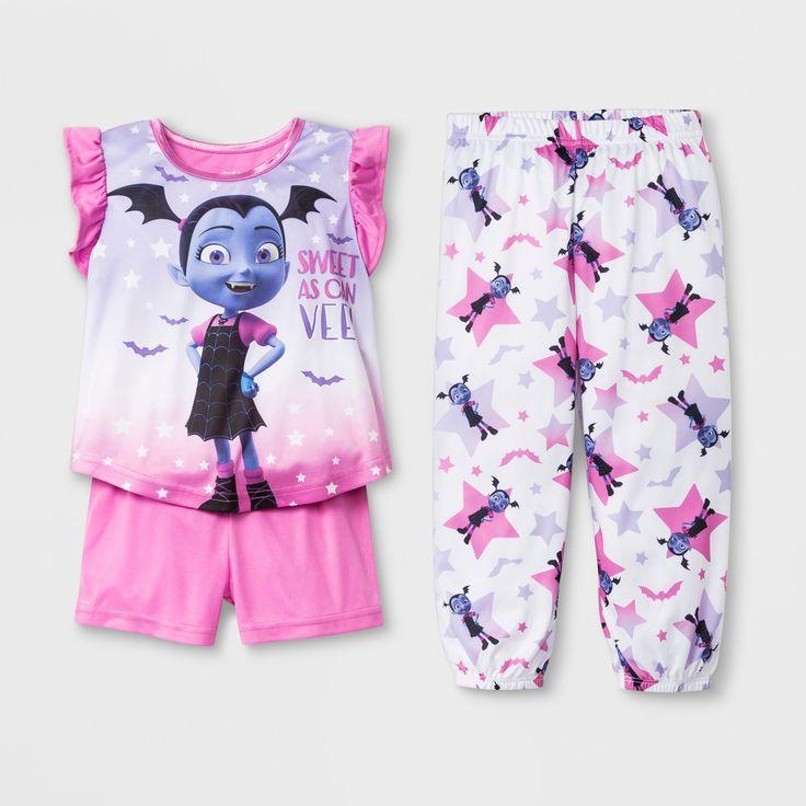 Toddler Girls' Vampirina 3pc Pajama Set - Pink 2T, Girl's ...