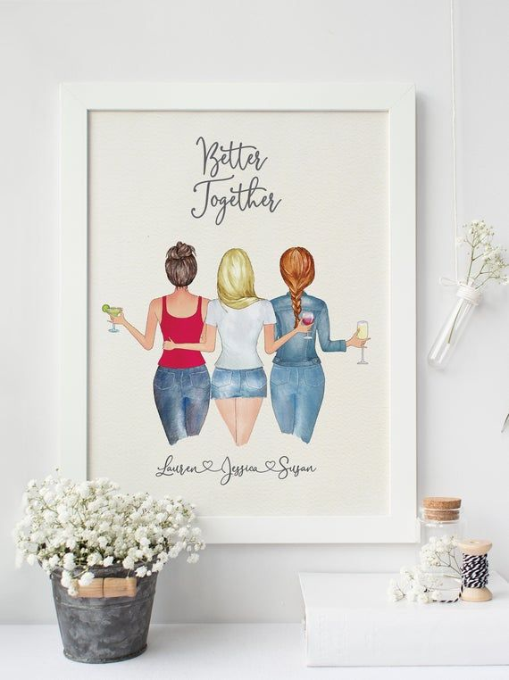 Digital Print Personalized Best Friend Wall Art Bestfriend Print Sister Gifts Mothers Day Gift Sisters Unique Gifts For Sister Birthday Gifts For Best Friend Christmas Gifts For Friends