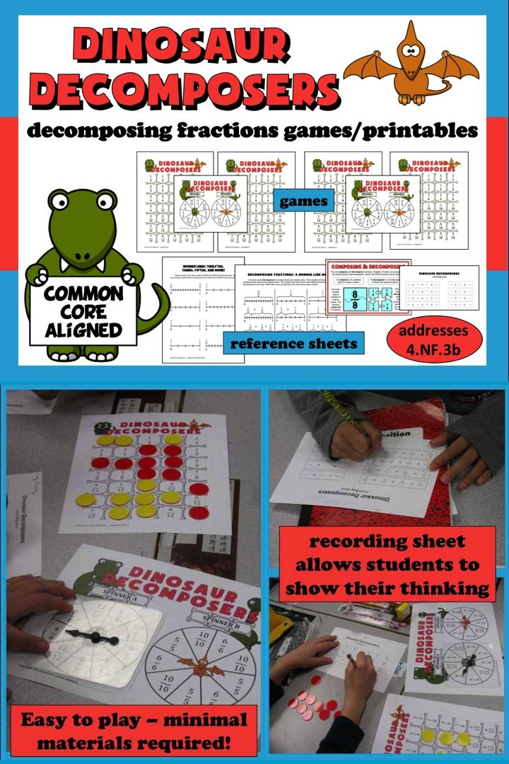 Dinosaur fractions games