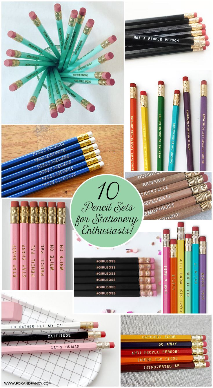 10 Delightful Pencil Sets for Stationery Enthusiasts! | #foxandfancy #tenlists #pencils