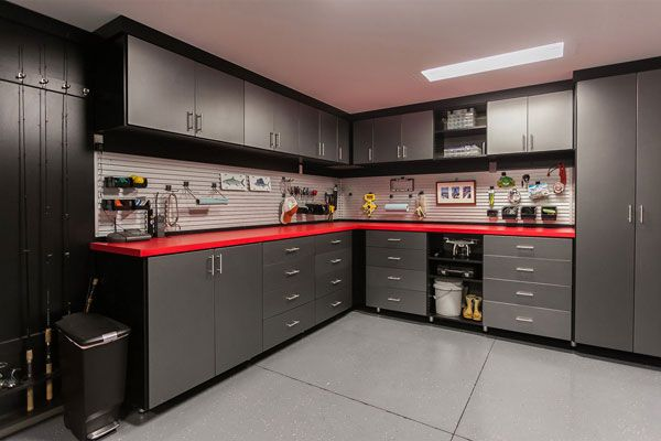 From Flooring And Wall Organizers To Built In Shelving And Cabinets Every Custom Garage Design Garage Storage Cabinets Garage Design Interior Garage Interior