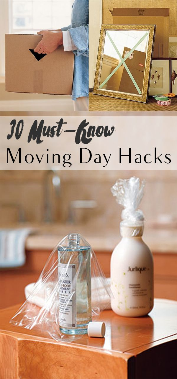 Moving day hacks, moving day, home hacks, life hacks, popular pin, make your life easier, home organization, easy storage.
