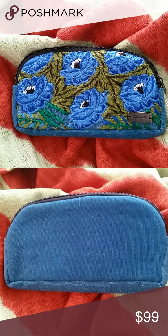 """Sunglass Case Lovely multi-purpose zippered pouch is perfect for sunglasses/glasses or small fragile trinkets. Padded throughout, it offers a soft protective covering. Perfect for travel or safety in your handbag! Each bag is handmade with care, dedicated skill and is one of a kind!  Material: Recycled Textiles.  7.5"""" × 4"""" Part of the Ketzali × Canil Artisan Group Collaboration. Handmade in Guatemala. Ketzali  Accessories Sunglasses"""