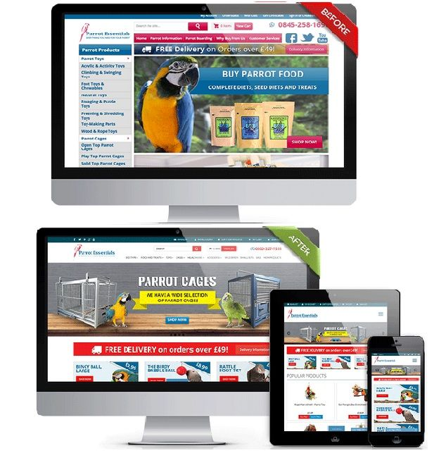 This is how a responsive website look. Want your #onlinestore to be responsive?  Get in touch for a free design mockup.