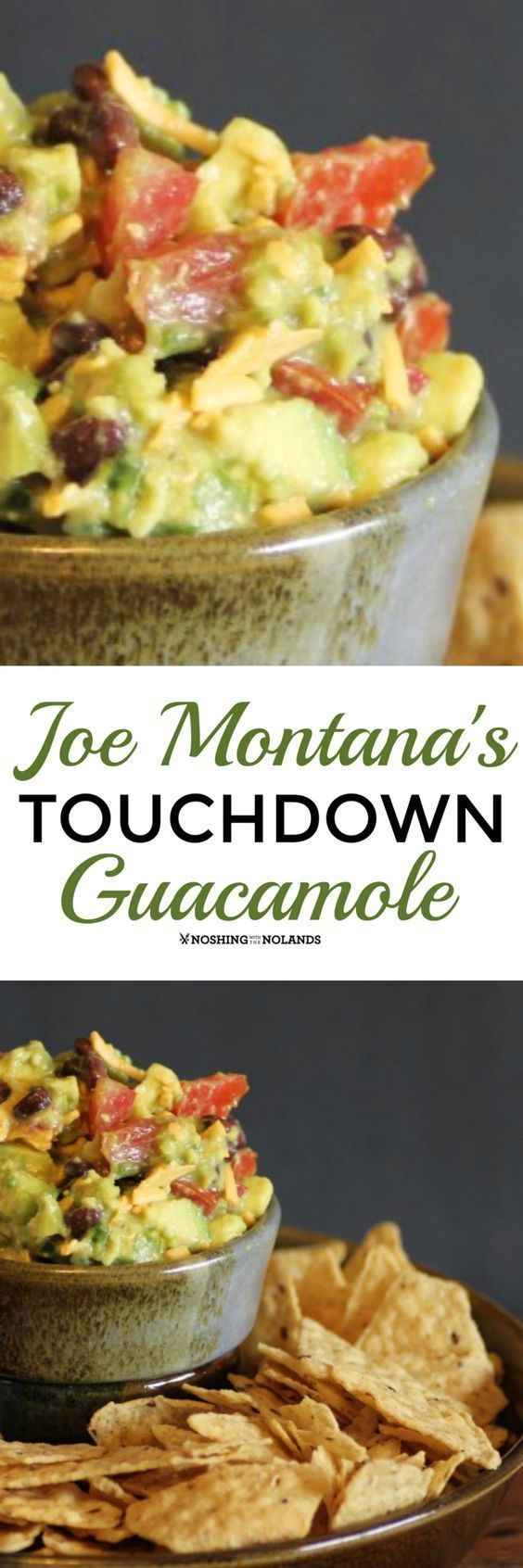 Joe Montana's Touchdown Guacamole by Noshing With The Nolands is full of delicious flavor! Perfect for game day or any day!