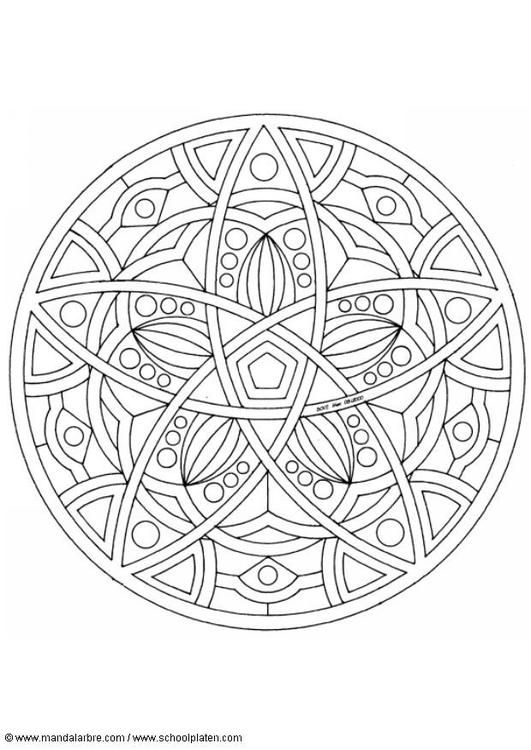 Coloring page mandala-1602e - coloring picture mandala-1602e. Free coloring sheets to print and download. Images for schools and education - teaching materials. Img 4504.