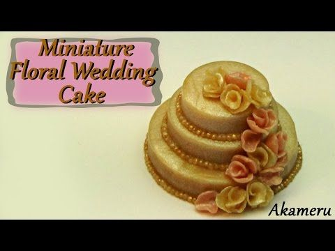 Miniature Floral Wedding Cake - Polymer Clay Tutorial - YouTube