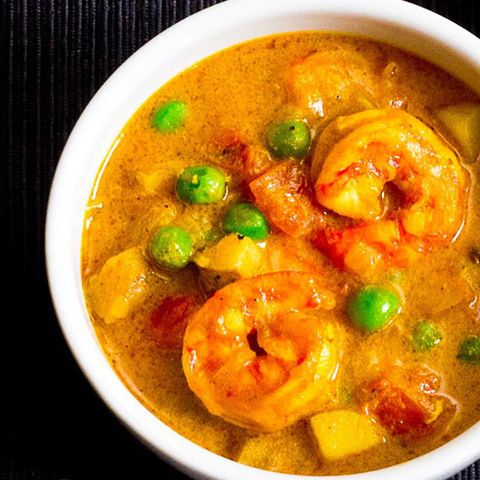 Желтое карри с креветками и картофелем: рецепты карри