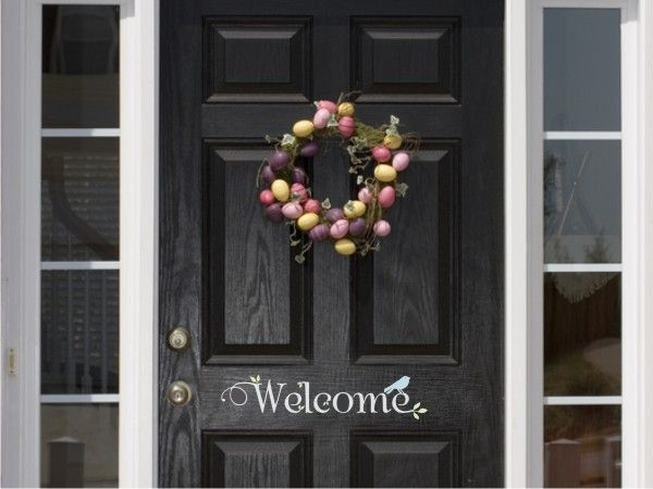 Best Door Greetings With Vinyl Images On Pinterest Custom - Custom vinyl decals for crafts
