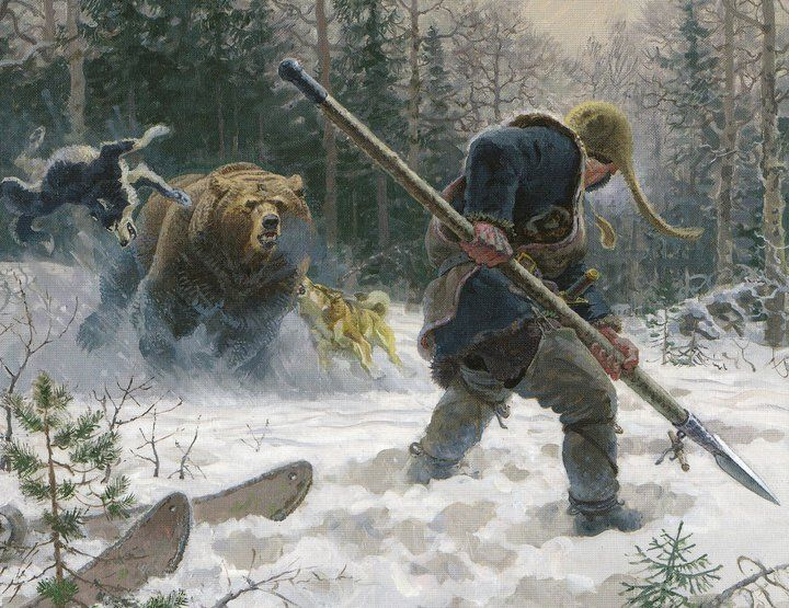 """The Vikings  feared, yet admired bears, for their sheer power, courage, and the fact that they are the only wild creatures of the north, that are not scared of man! That's why the elite warriors, the Berserkers, evoked their """"bear spirit"""" by using hallucinogenic drugs. Though they hunted bears for their furs, young orphaned cubs were often raised as """"pets""""."""