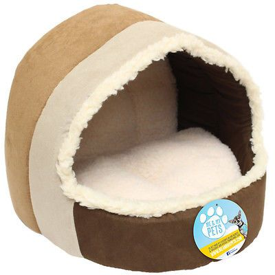 Me & my luxury soft plush #cat/dog #igloo pet bed warm house/mat/snug #puppy/kitt,  View more on the LINK: 	http://www.zeppy.io/product/gb/2/351262588854/