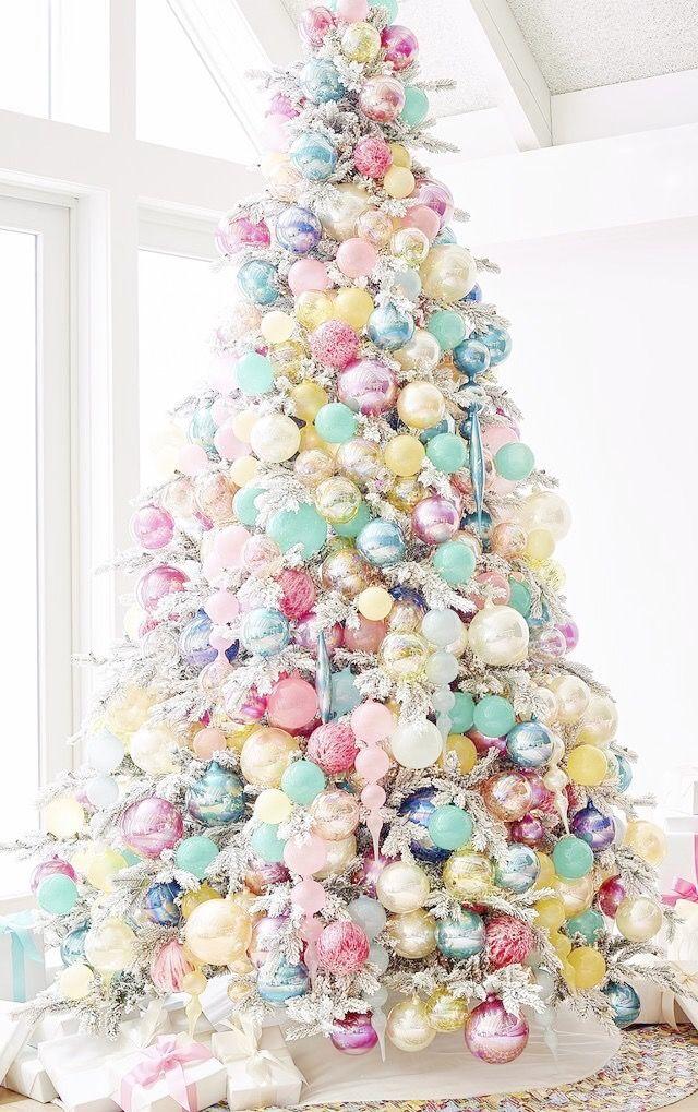 pastel christmas tree vintage pastel christmas pinterest christmas christmas tree and christmas decorations