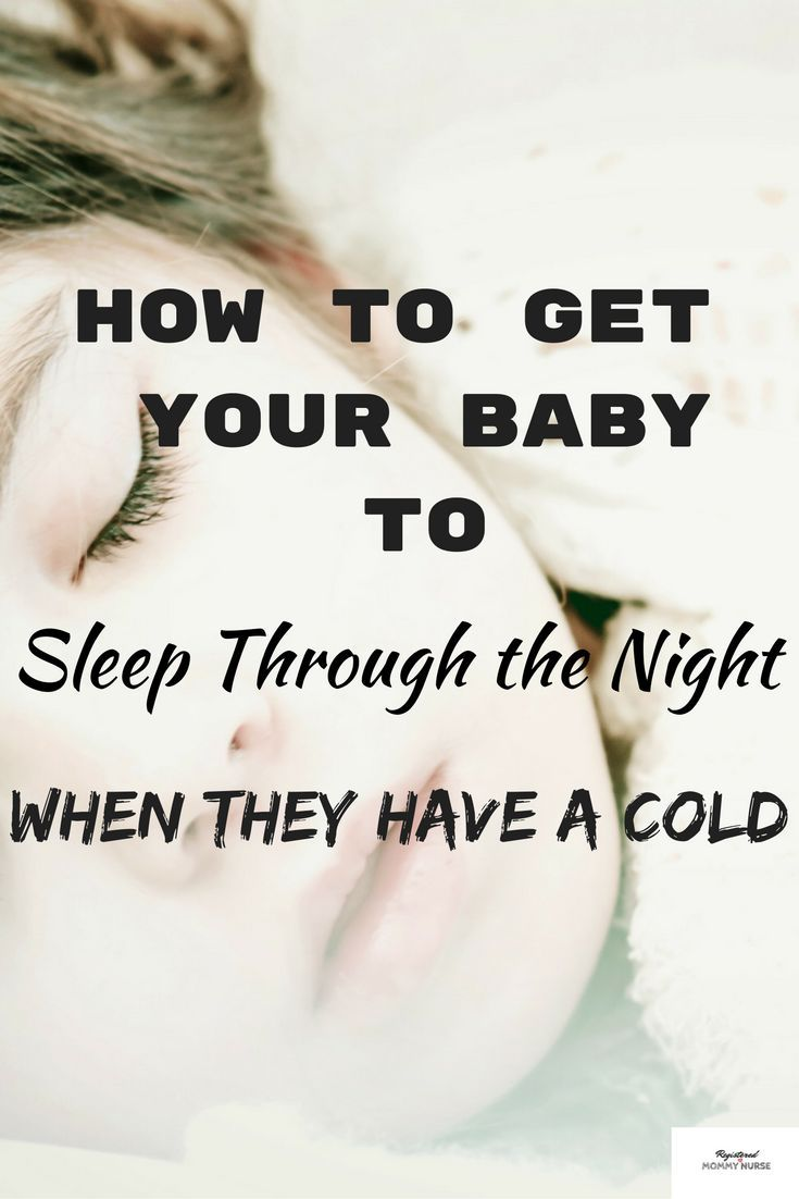 You know when your baby is all congested and can't breathe and is waking up every hour.  Find out how to get your baby to sleep through the night when they have a cold