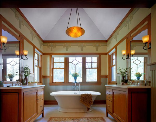 Photo Image arts and crafts bathrooms tub
