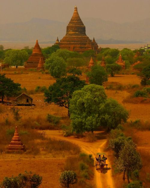 Bagan in Myanmar is like stepping back in timeBagan, formerly Pagan, is an ancient city located in the Mandalay Region of Burma (Myanmar). From the 9th to 13th centuries, the city was the capital of the Kingdom of Pagan,  the first kingdom to unify the regions that would later constitute  modern Myanmar. During the kingdom's height between the 11th and 13th  centuries, over 10,000 Buddhist temples, pagodas and monasteries were  constructed in the Bagan plains alone, of which the remain...