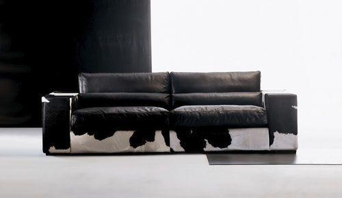 Sofá moderno / de interior / de cuero SAM PAU