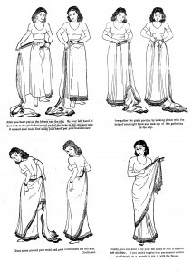How to wrap a sari :)