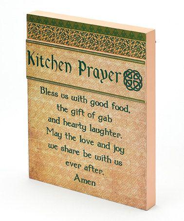 Love this Irish Kitchen Prayer Wall Art on #zulily! #zulilyfinds