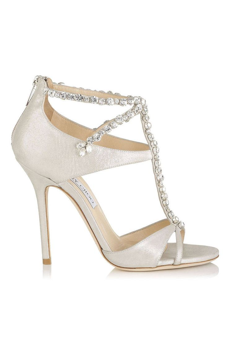 26 Pairs of Shoes That You Can Dance All Night In - Heels To Buy - Elle. Jimmy Choo Faiza White Shimmer Leather Sandals With Crystals, $1,595. us.jimmychoo.com