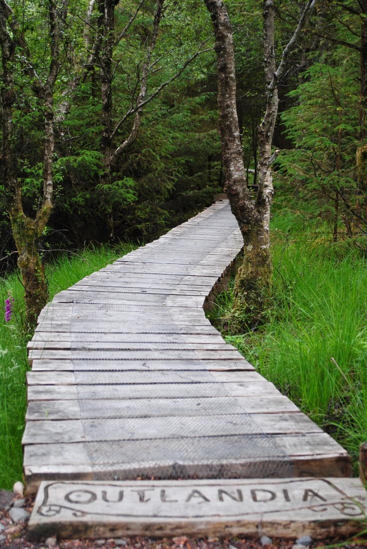 Bridge to Outlandia, Craig Na Dun (3 miles from Ft William), Scotland