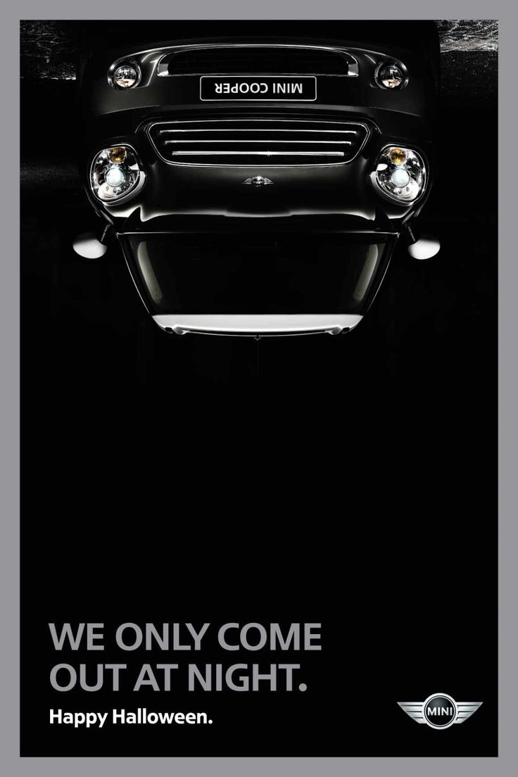 Examples of the best Halloween Ads - Mini Cooper