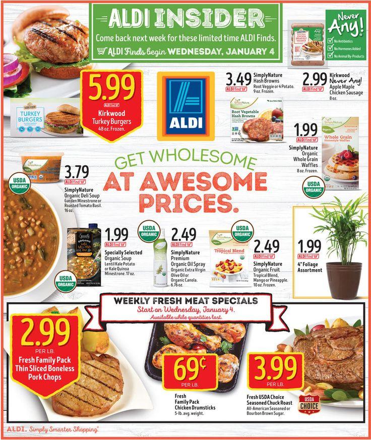 Aldi In Store Ad Starting January 4, 2017 - http://www.olcatalog.com/grocery/aldi/aldi-in-store-ad.html