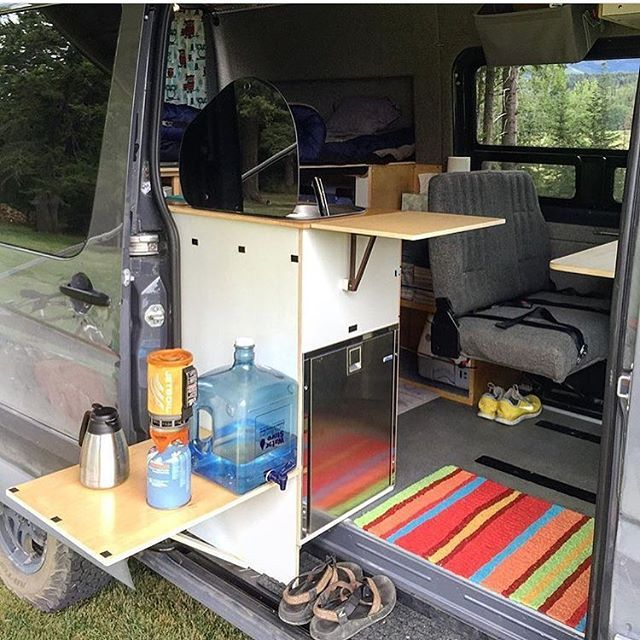 Great use of door space  @campovans  Show off your Sprinter Van! Tag #sprintercampervans to be featured!  Regram via @sprintercampervans