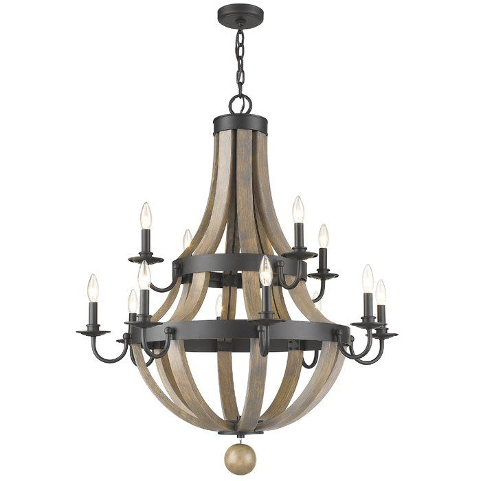 Pittman 12 Light Candle Style Chandelier Candle Style Chandelier Metal Chandelier Candle Styling