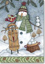 Snowball Season Winter Mini Garden Flag By Windswept