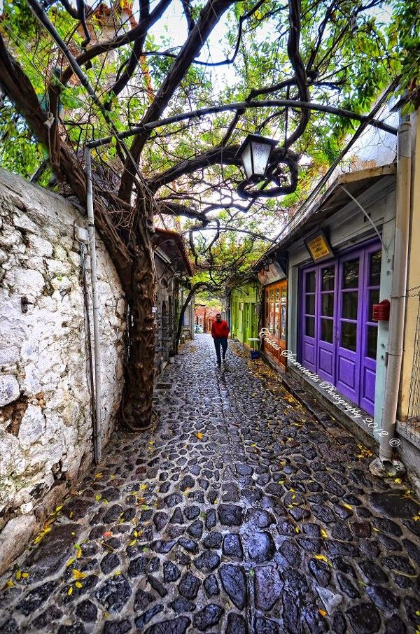 Cobblestone Streets of Molyvos, Lesvos Greece