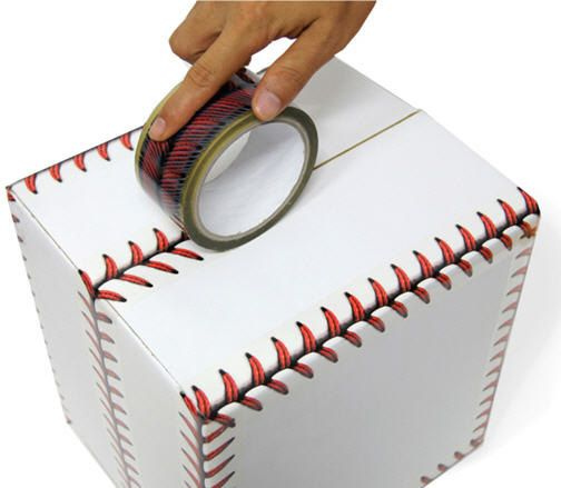 Baseball Stitch Decorative Tape & Packaging Tape - A set of Two via Etsy