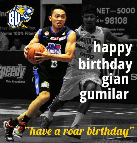 Happy Birthday Gian Gumilar our Point Guard