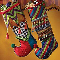 Love these MacKenzie-Childs Christmas Stockings.  How fun!