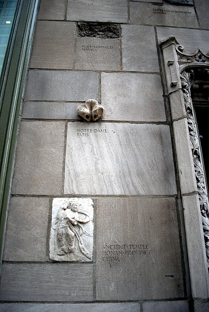 Chicago Tribune Tower: Architectural Relics including Sydney Opera House (tiles)