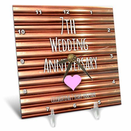 3drose 7th wedding anniversary gift copper celebrating 7 years together seventh anniversaries seven