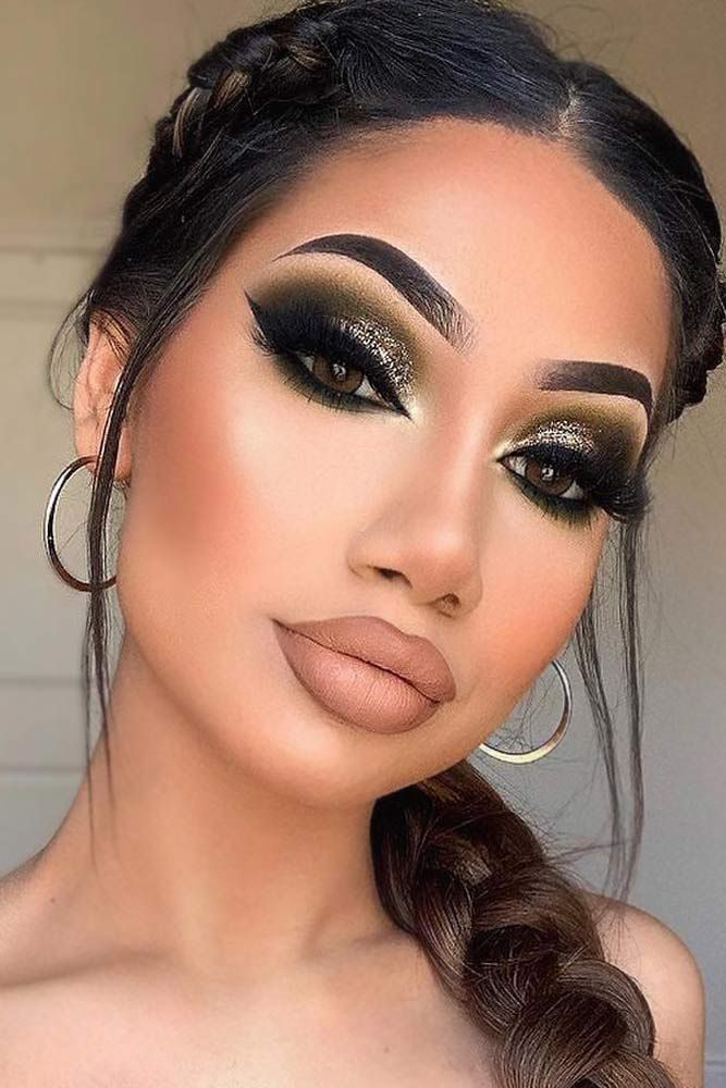 Green Smokey Eyes Make-up mit Cat Eyeliner #greensmokey ★ Durstig nach etwas …
