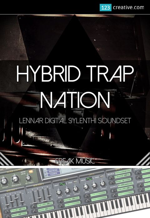► HYBRID TRAP NATION - presets for Sylenth1 synthesizer - this collection is inspired by the best Hybrid Trap artists in the world. Sylenth1 patches for Trap, Hip Hop, Hybrid Trap, Future Bass, Festival Trap, Dirty South, EDM. Learn more: http://www.123creative.com/electronic-music-production-sylenth1-presets/1431-hybrid-trap-nation-trap-presets-for-sylenth1.html #Sylenth1Presets