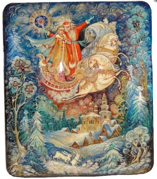 Kovalyeva, Kolui lacquer box, Winter