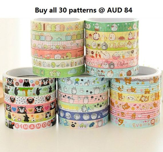Molang Tape, Cartoon PVC Tape, Totoro Tape, Rilakkuma PVC tape, Cartoon Cellophane tape, Sumikko Gurashi Tape, Kumamon