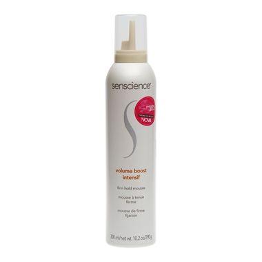 Senscience Volume Boost Intensif oferece corpo, volume e sustentação de longa duração com fixação forte para todos os tipos de cabelos, especialmente cabelos finos e sem volume. Deixa os fios com textura, definição, estilo e forma.