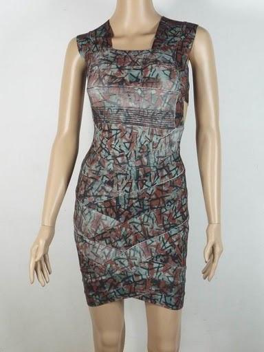 Herve Leger Engineered Batik Dress HL00174