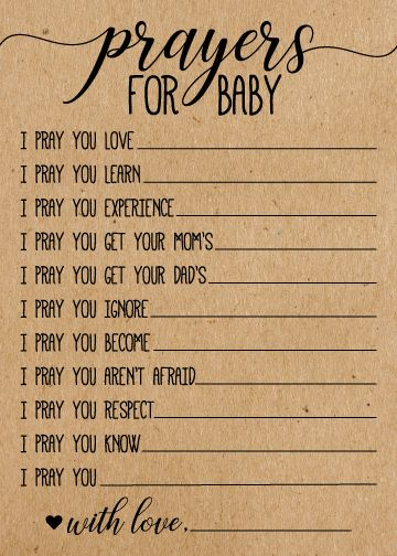 Prayers for Baby Cards
