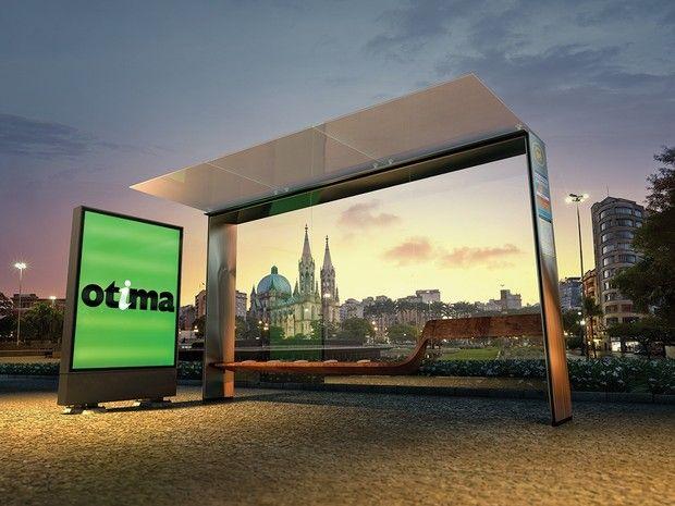 Novos abrigos de ônibus em SP ganham prêmio de design (Foto: Divulgação)