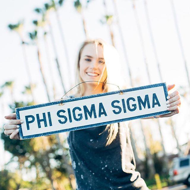 Phi Sigma Sigma wood sign from The Social Life. Buy it on the FindGreek app! https://findgreek.com/download #findgreek