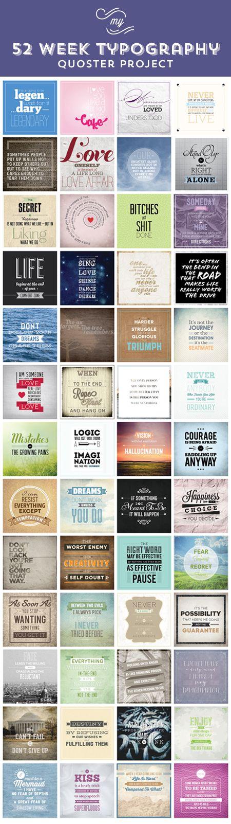 52 Week Typography Quoster Project Svetlana Bilenkina