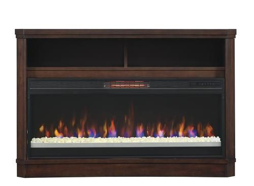 """ChimneyFree™ 48"""" Ansley Electric Fireplace Entertainment Center in Coffee Brown at Menards®: ChimneyFree™ 48"""" Ansley Electric Fireplace Entertainment Center in Coffee Brown"""