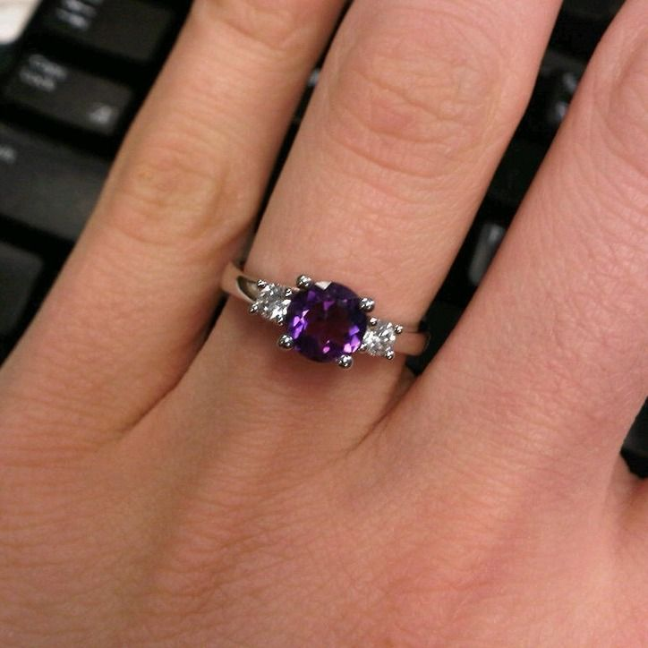 rings this white create nickel com the hypoallergenic amethysts amethyst ring stone deep heart purple wedding bypass round set in engagement with pair center to gold no a cut custommade of
