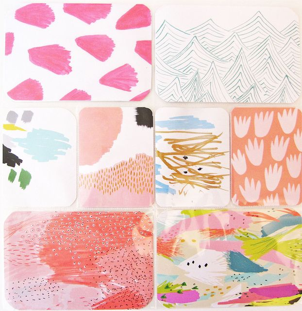 using project life for art journaling/ pattern work Love this idea!