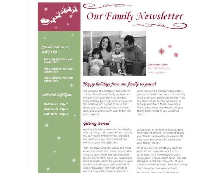 The  Best Christmas Newsletter Ideas On   Christmas