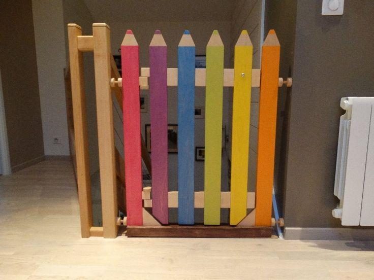 Barrière escalier crayon par Atelier1053 sur L'Air du Bois